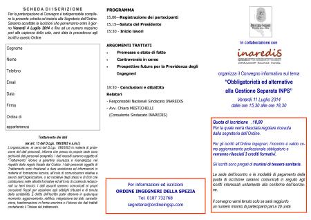 Convegno Gestione separata_11.7.2014