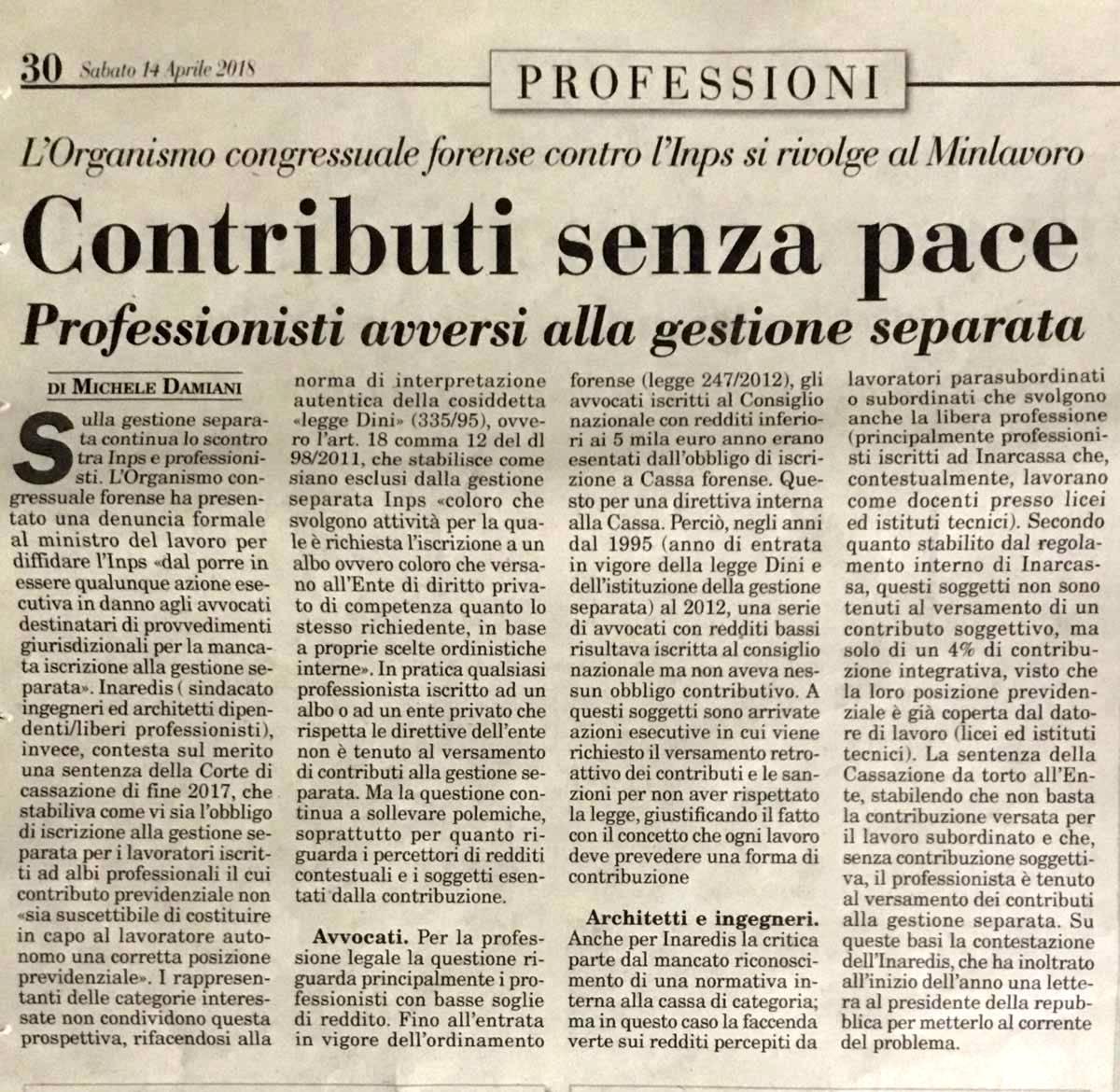 italiaoggi-contributi senza pace